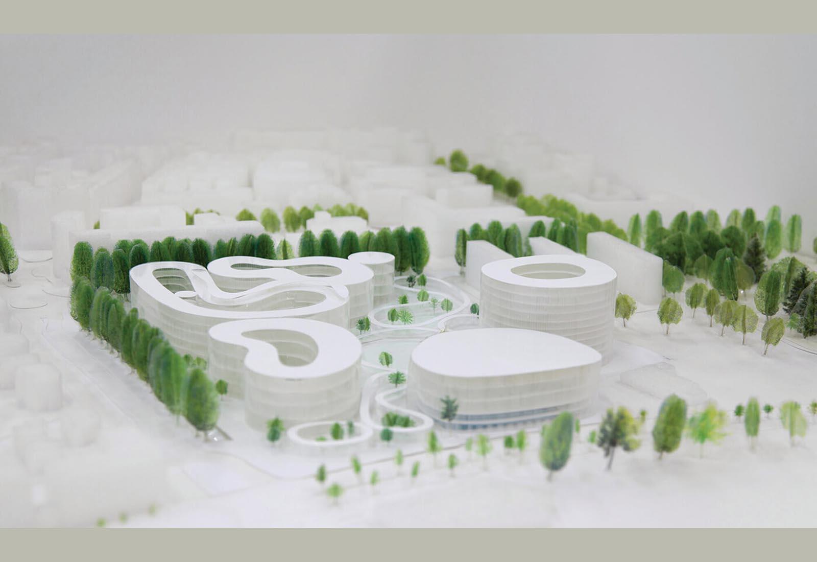 Edifici del campus Bocconi in via Castiglioni a Milano - Il plastico dell'intervento