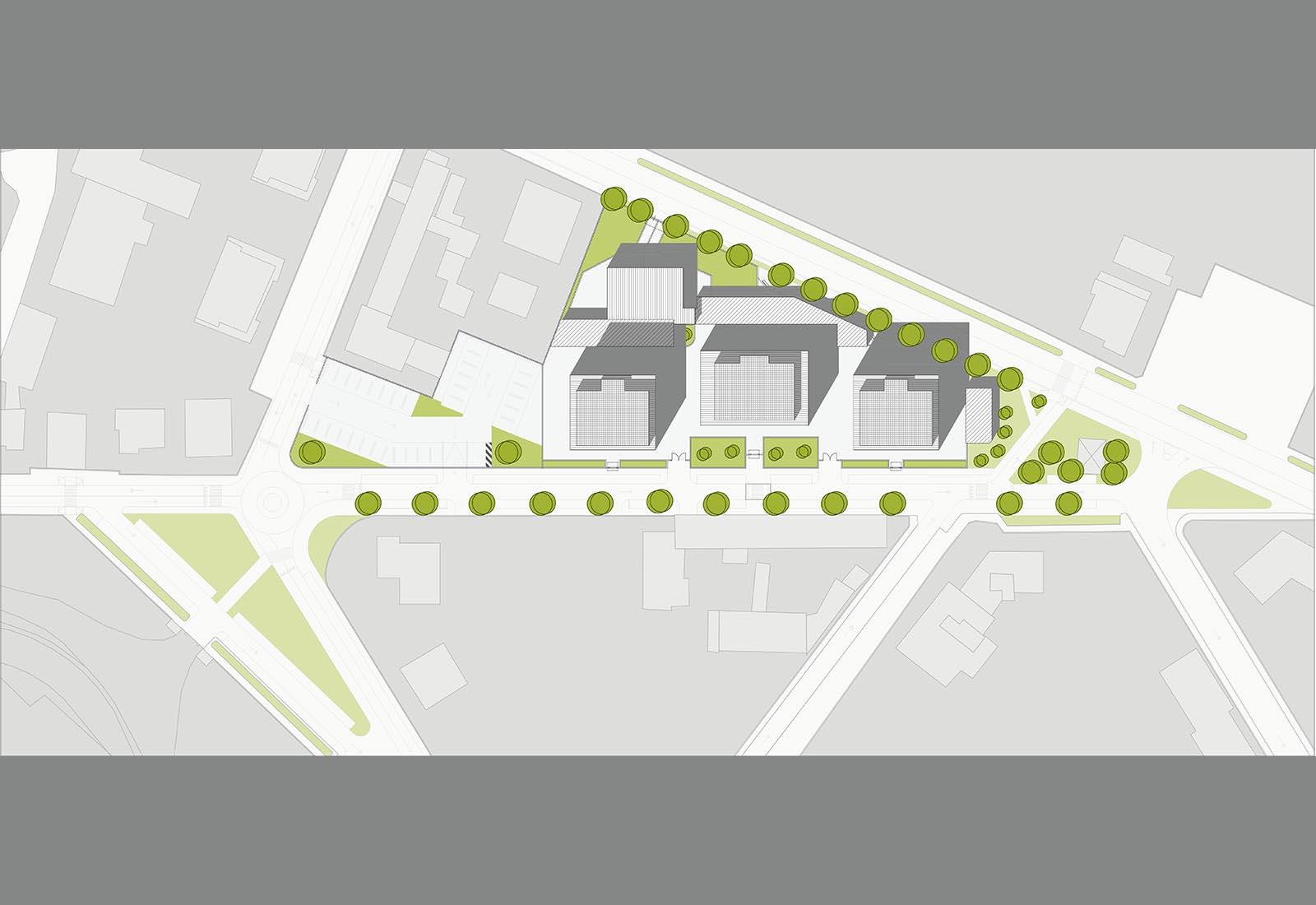 Residenze via Biringhello a Rho - Planivolumetrico schematico