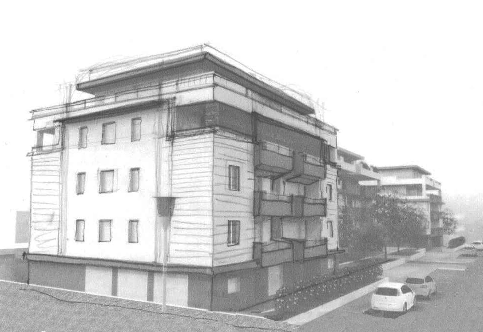 Residenze via Biringhello a Rho - Schizzo compositivo