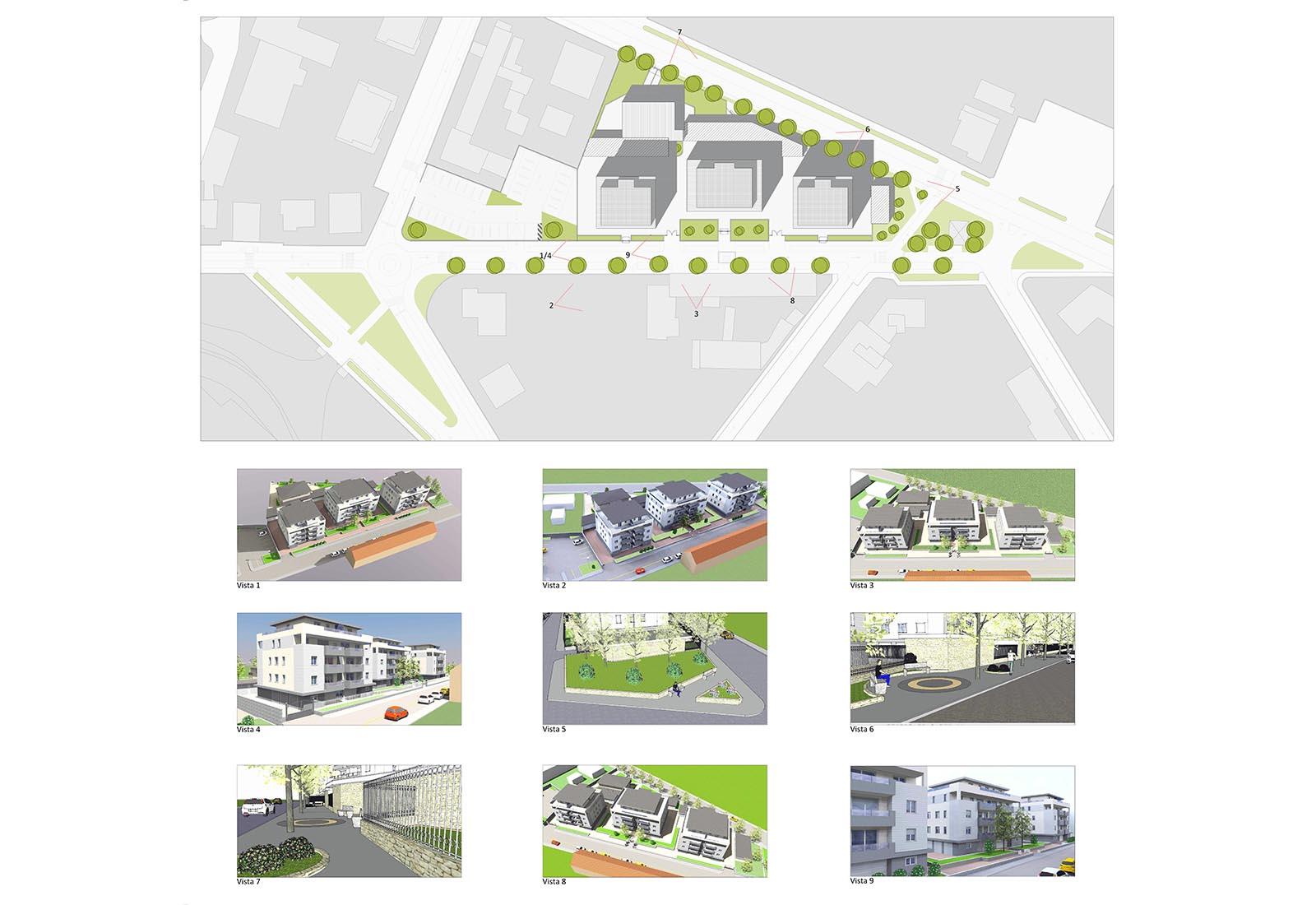 Residenze via Biringhello a Rho - Il progetto compositivo