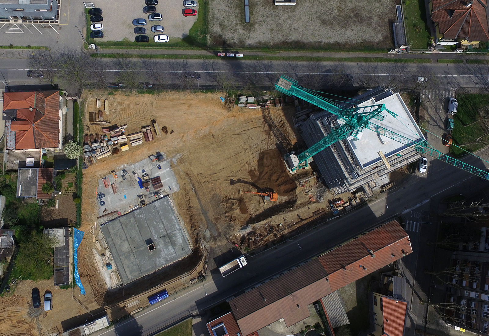 Residenze via Biringhello a Rho - Vista aerea del cantiere