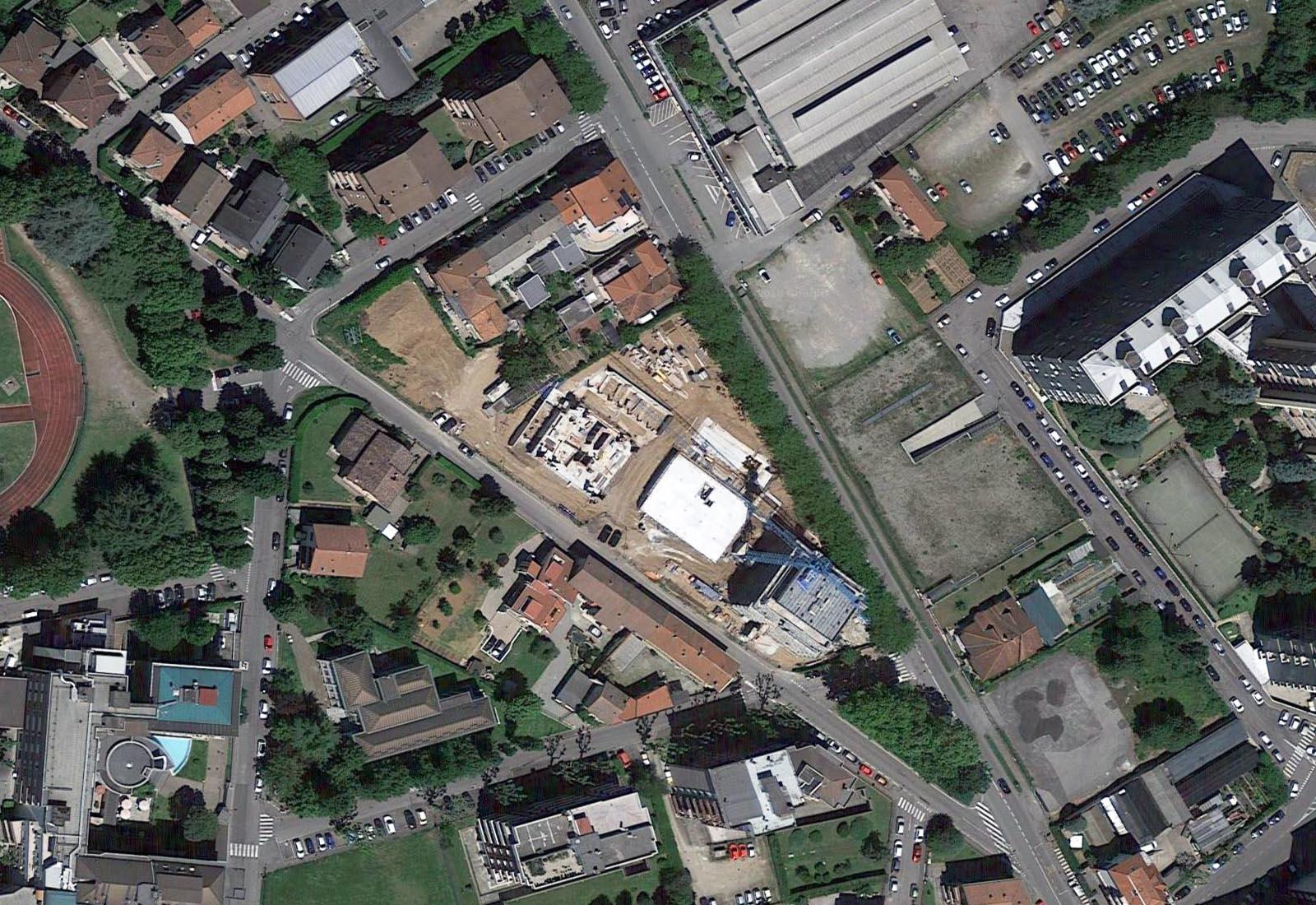 Residenze via Biringhello a Rho - Vista aerea zenitale