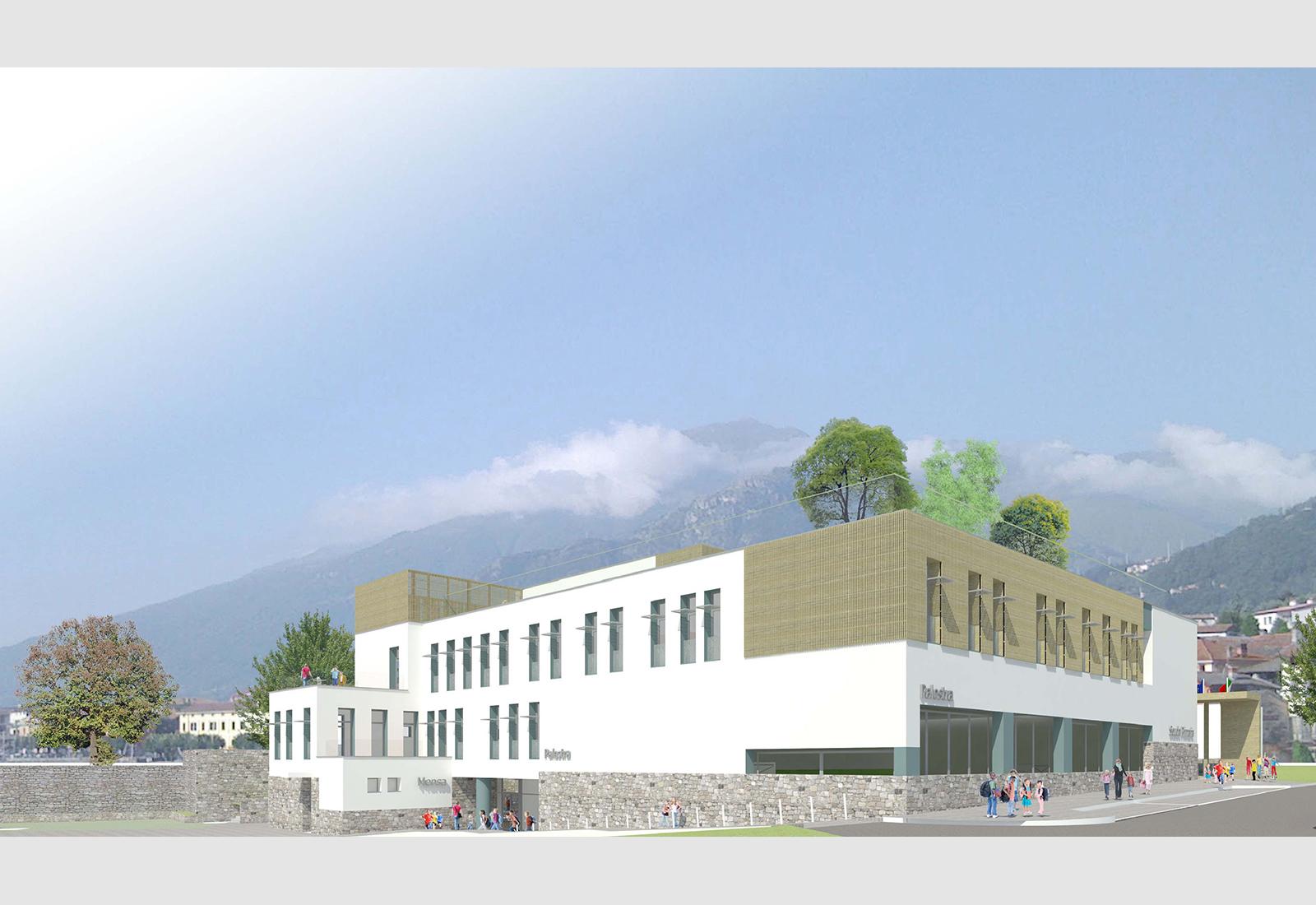 Scuola elementare a Gravedona - Vista da Sud-Est