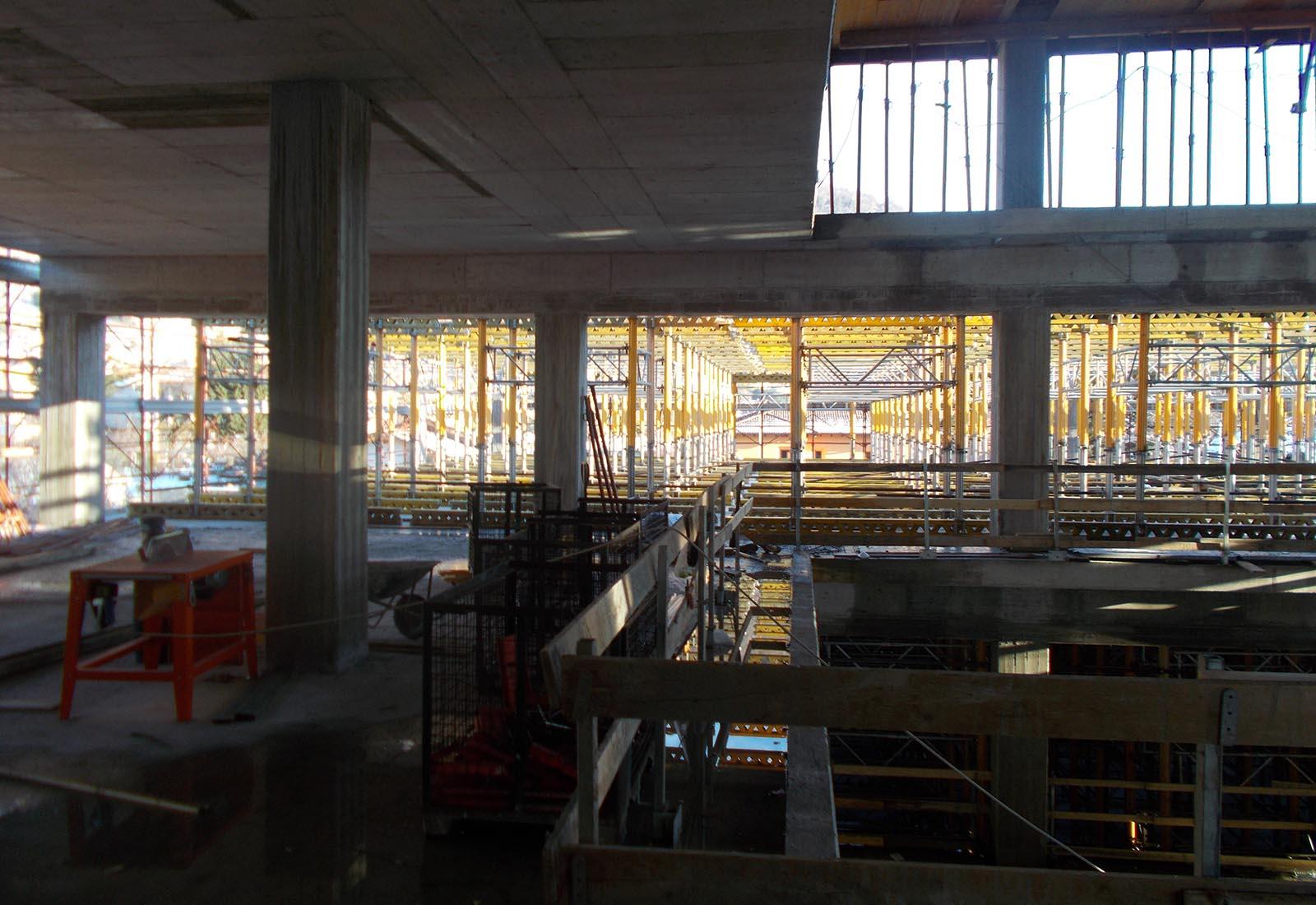Scuola elementare a Gravedona - Il cantiere