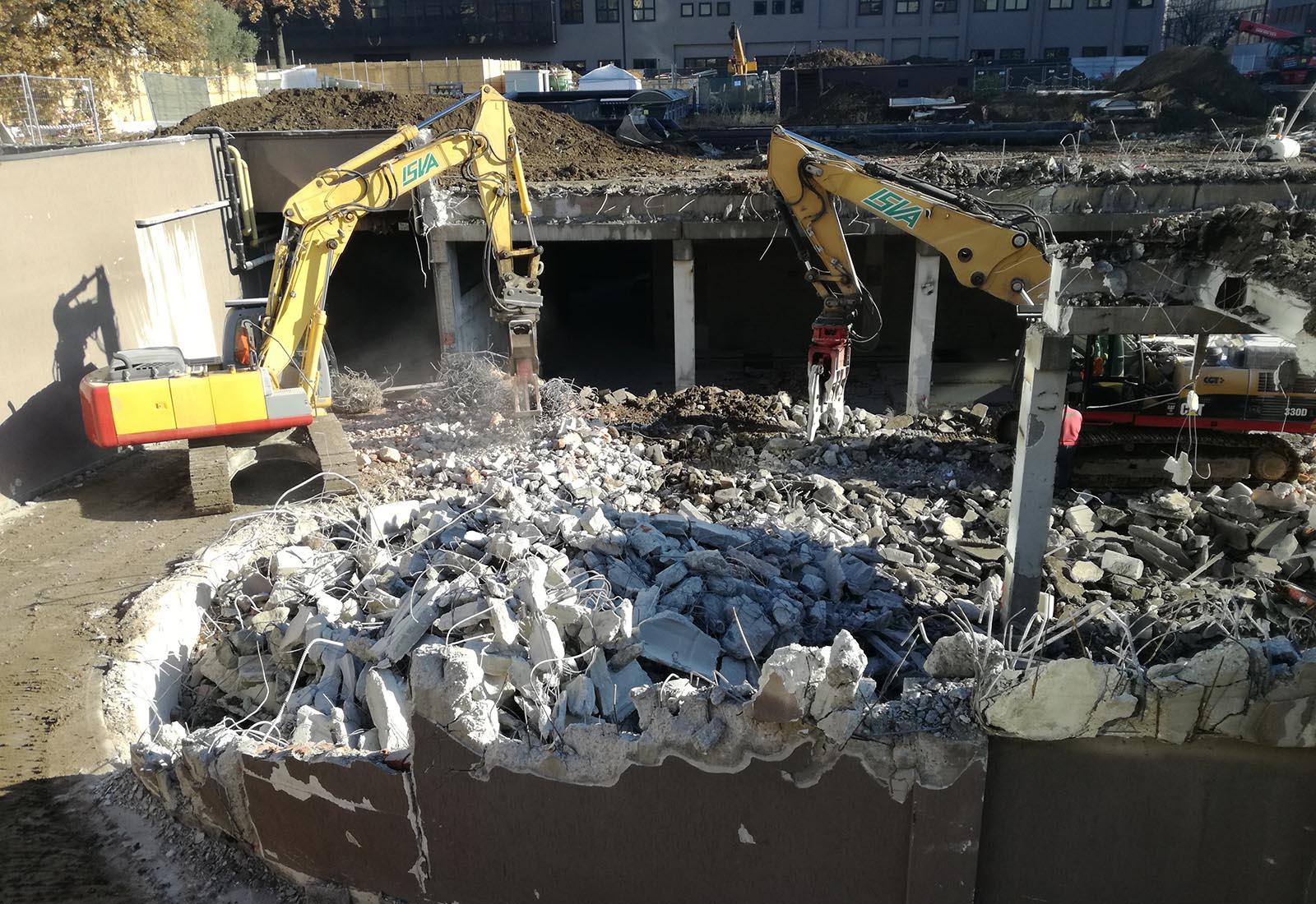 Ampliamento Ospedale San Raffaele a Milano - Demolizioni