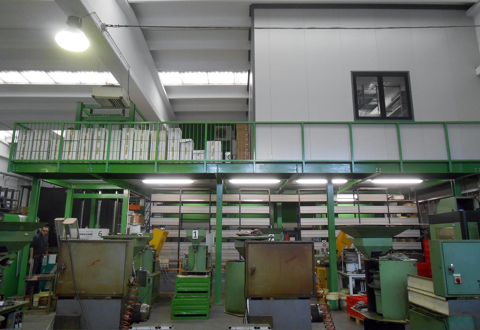 Soppalco industriale a Nerviano - Vista