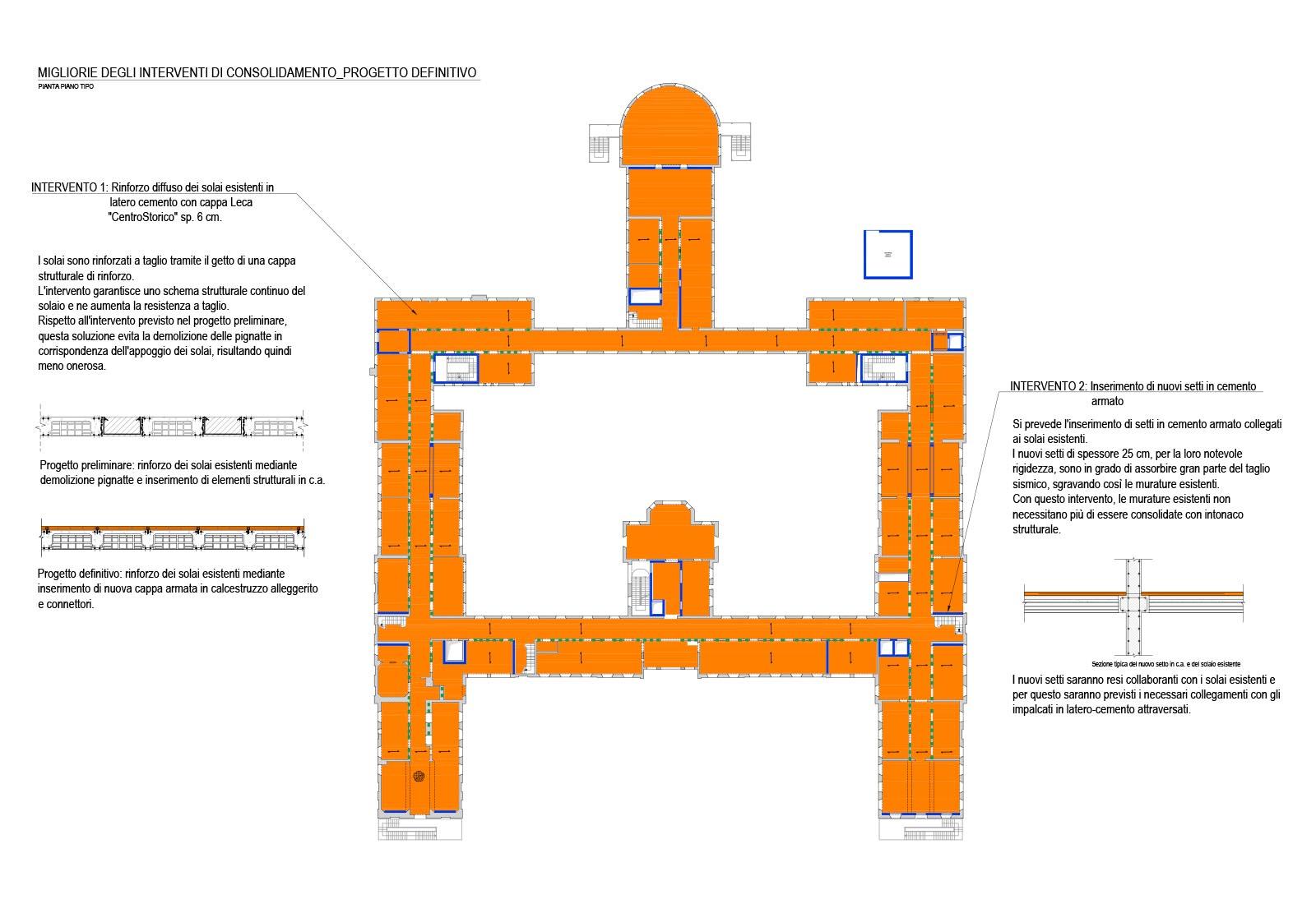 Interventi Di Consolidamento Murature.Adeguamenti Policlinico San Matteo A Pavia Csa Studio