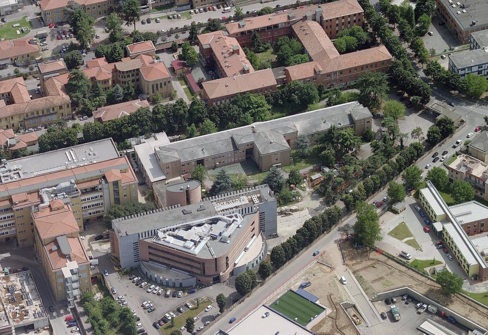 Adeguamenti Policlinico San Matteo a Pavia - Padiglione 30 - Vista aerea
