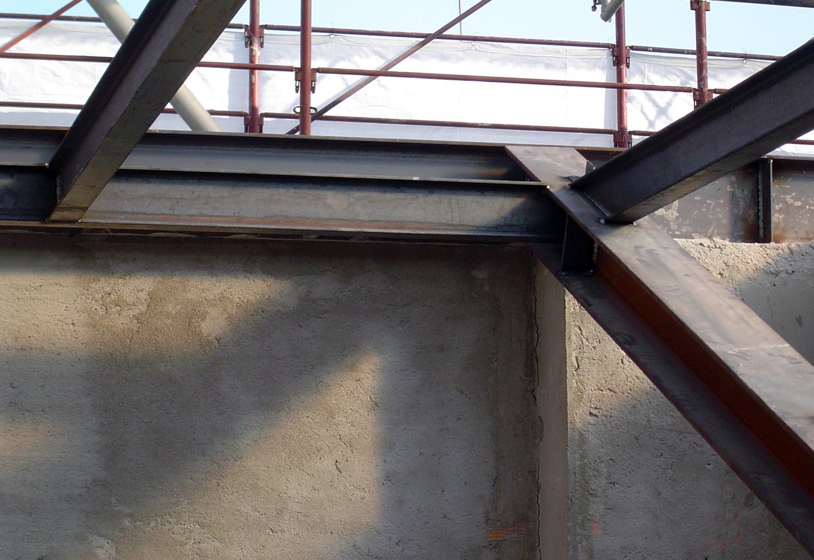 Recupero piano sottotetto in via Rugabella a Milano - Dettaglio della struttura